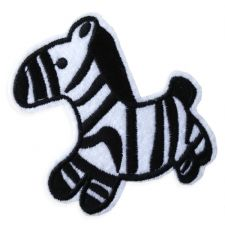 BABY ZEBRA MOTIF IRON ON EMBROIDERED PATCH APPLIQUE